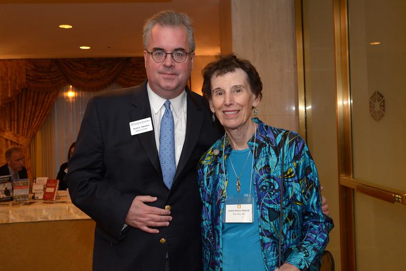 Editor in Chief Scott Steward and Trustee Emerita Judy Halseth