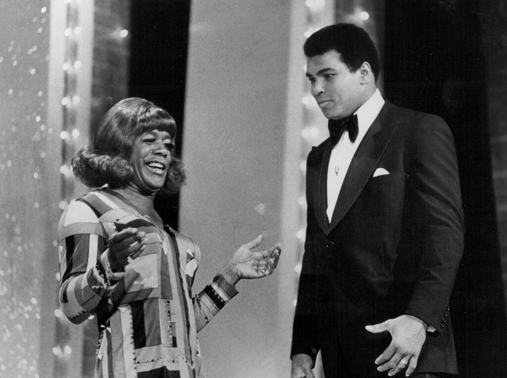 . Flip Wilson with Muhammad Ali in 1975. Denver Post Library photo archive