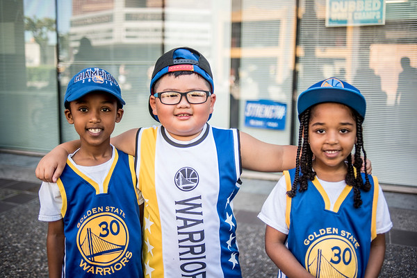 Warriors Parade street portraits