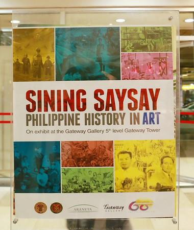 Sining Saysay Exhibit at Gateway Tower