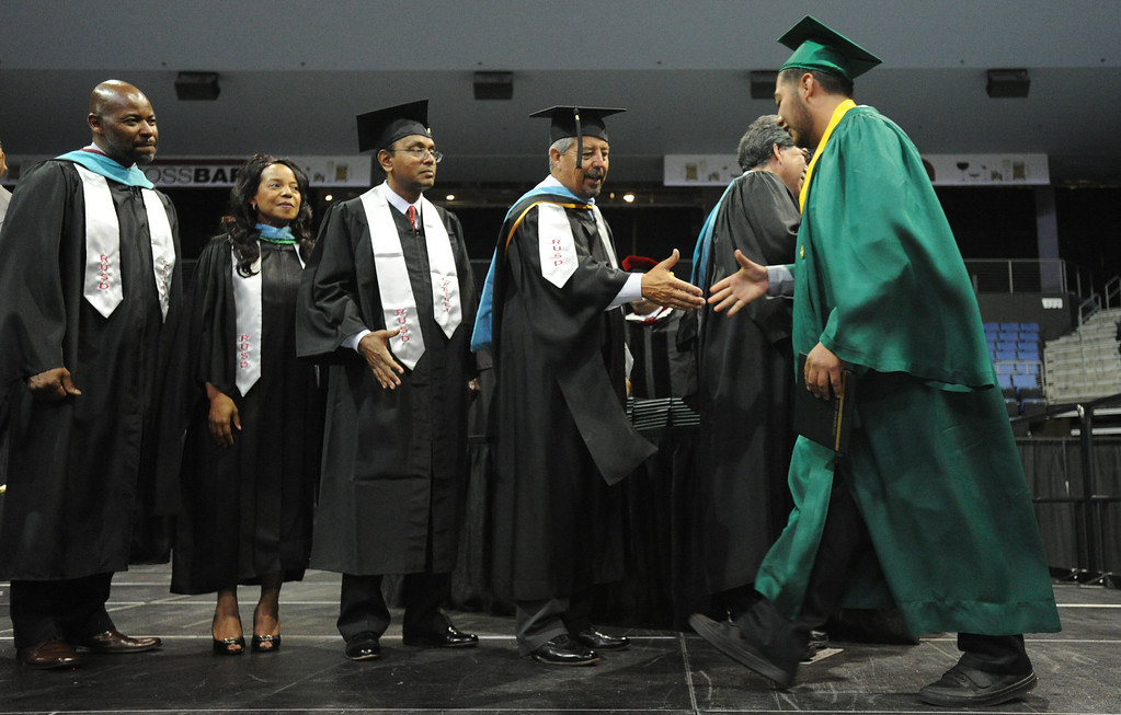 . Eisenhower High School\'s 2014 Commencement ceremony at Citizens Business Bank Arena in Ontario, Ca., Sunday June 1, 2014. (Photo by John Valenzuela/ Inland Valley Daily Bulletin)