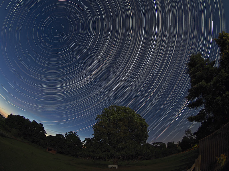 Fisheye Star Trail