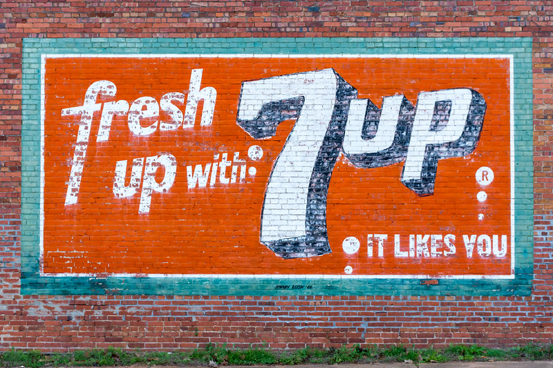 GA, Buena Vista - 7 UP Wall Sign 02