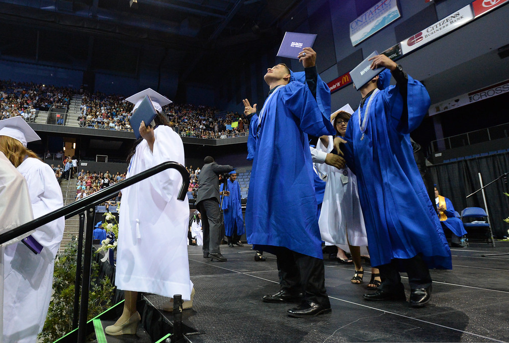 . Rialto High School\'s 21st Commencement ceremony at Citizens Business Bank Arena in Ontario, Ca., Sunday June 1, 2014. (Photo by John Valenzuela/ Inland Valley Daily Bulletin)