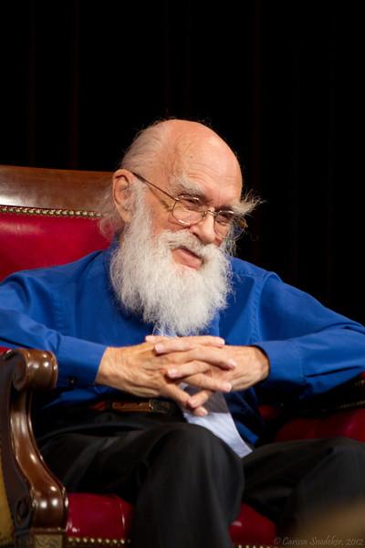 A Conversation with James Randi and Jamy Ian Swiss. Pictured: James Randi