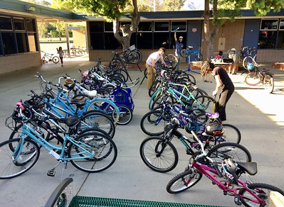 Family Bike Night at Foothill (April 2017)