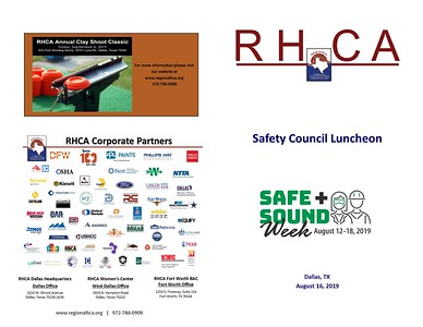 RHCA Safe + Sound Luncheon 8 16 19