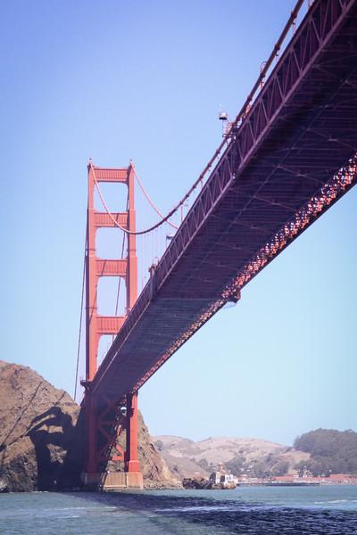 Under the Golden Gate Bridge, part of the Bay Cruise