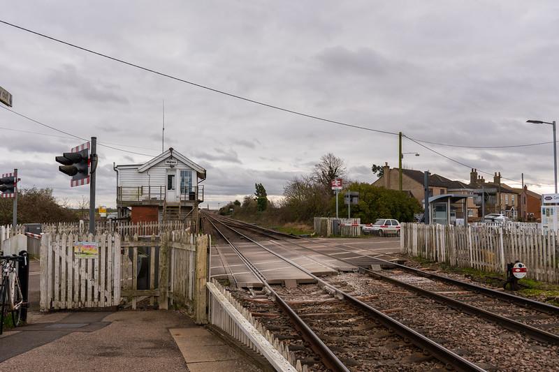 Manea signal box and level crossing