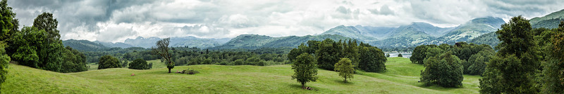 View from Wray Castle, Lake Windermere in the Lake District.
