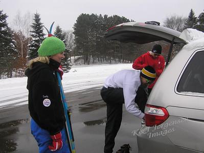 Skiing at Lake Elmo