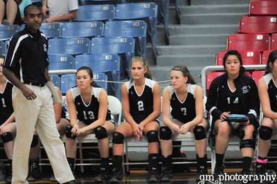 2012 Volleyball~~Varsity Lady Rangers last game against Elkins
