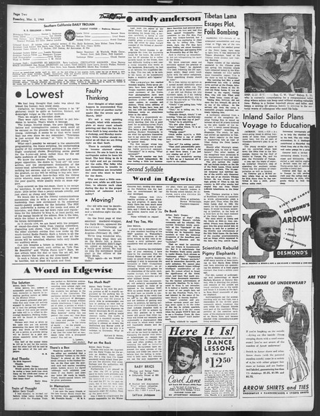 Daily Trojan, Vol. 39, No. 90, March 02, 1948