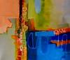 "Aerial-Stone, 52""hx64""w painting on canvas (AEDJC17-11-19)"
