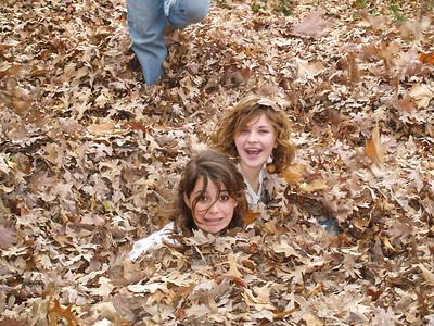 Raking Leaves - November 2006