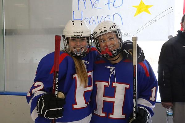 Girls' JV Hockey Senior Ceremony