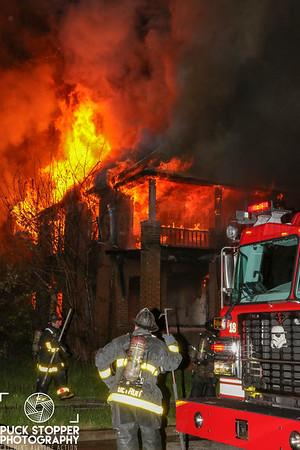 Vacant Dwelling Fire - 15419 Rosa Parks Blvd, Detroit, MI - 5/10/19