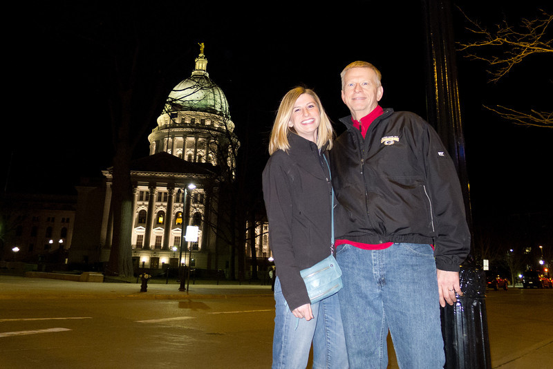 Murray and his daughter who is a Senior at the University of Wisconsin.