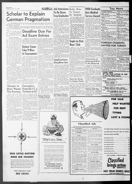 Daily Trojan, Vol. 45, No. 41, November 17, 1953