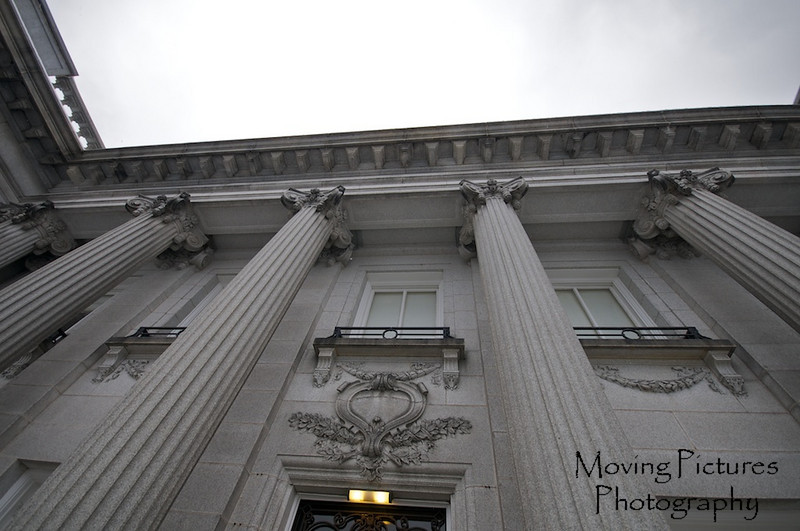 Laurel Court - Columns surrounding front entrance