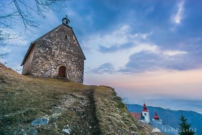 Sunset hike to Sv. Primož hill - Mar 14, 2015