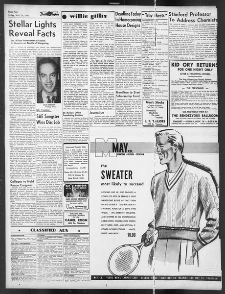 Daily Trojan, Vol. 39, No. 44, November 14, 1947