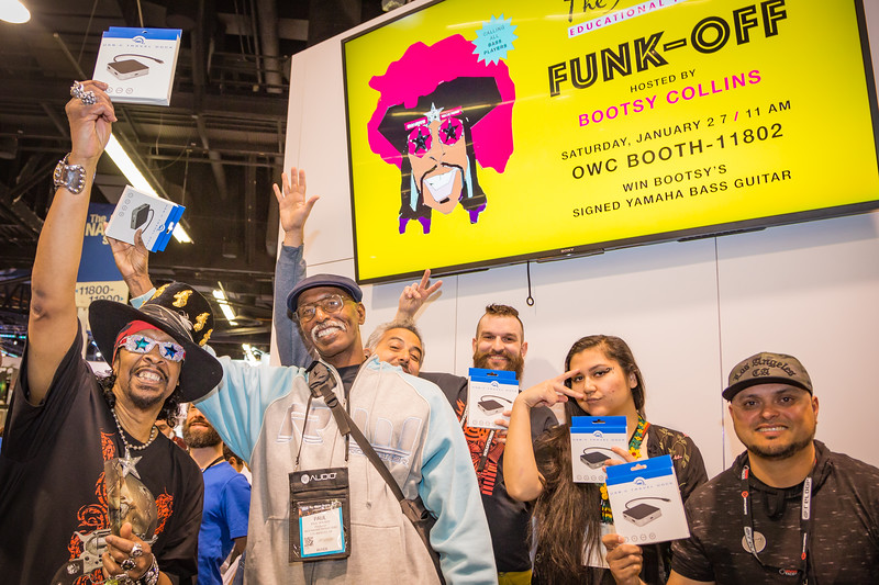 2018_01_27, Anaheim, CA, NAMM, bootsy collins, funk off, runner up, peace signs, owc,