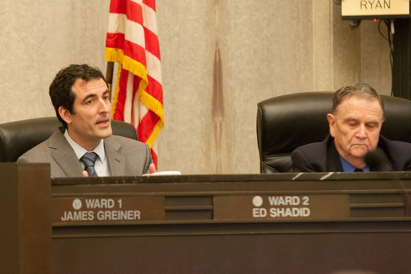 Oklahoma City councilmen Ed Shadid and Larry McAtee.