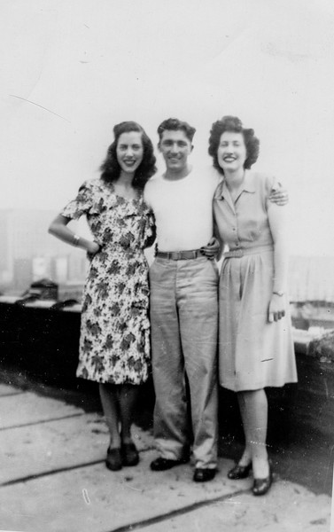 Patricia O'Brien, William Brady and Elizabeth O'Brien. upon William Brady's return from WWII.