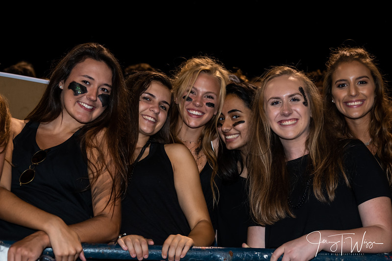 8-24-18 HVA vs West Hawks nest student section