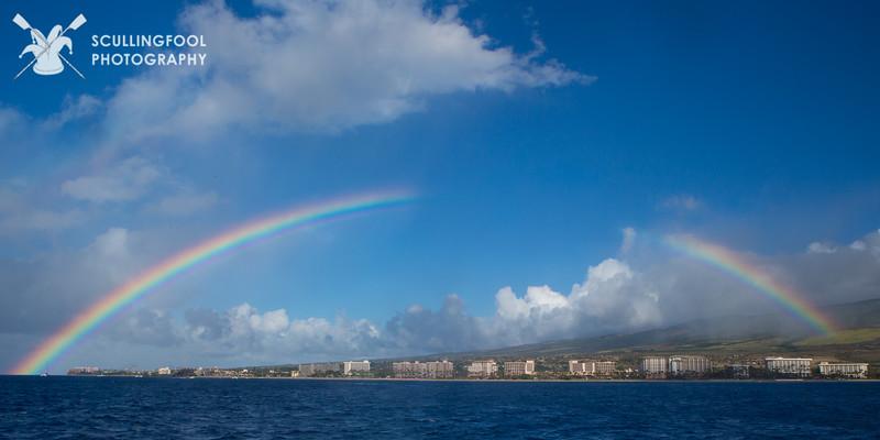 Rainbow over Ka'anapali beach