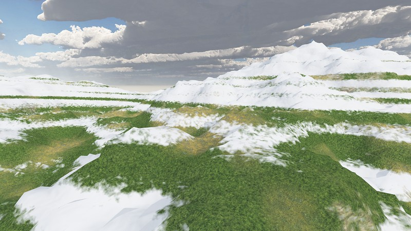 Ice Mountain 9 : A Computer Generated Image from Daily Animation