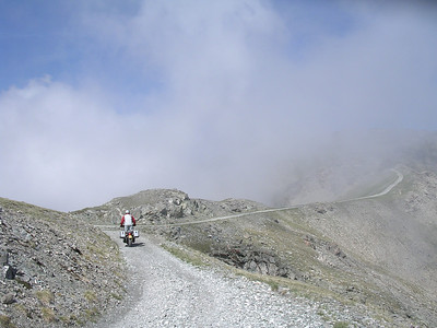 laatste kms over de kam naar Mt Jafferau