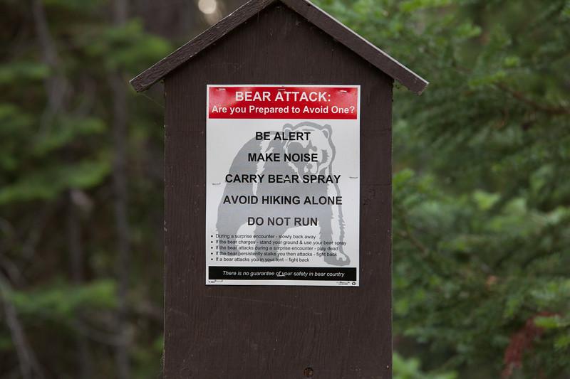 Bear Attack sign