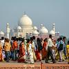 Indians and their Taj Mahal, Agra, India