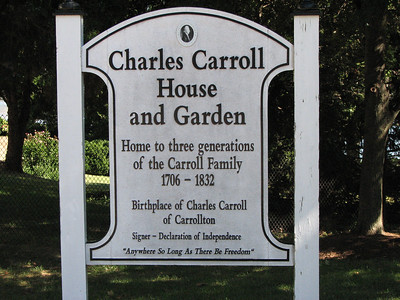 Charles Carroll of Carrollton Homes and Grave