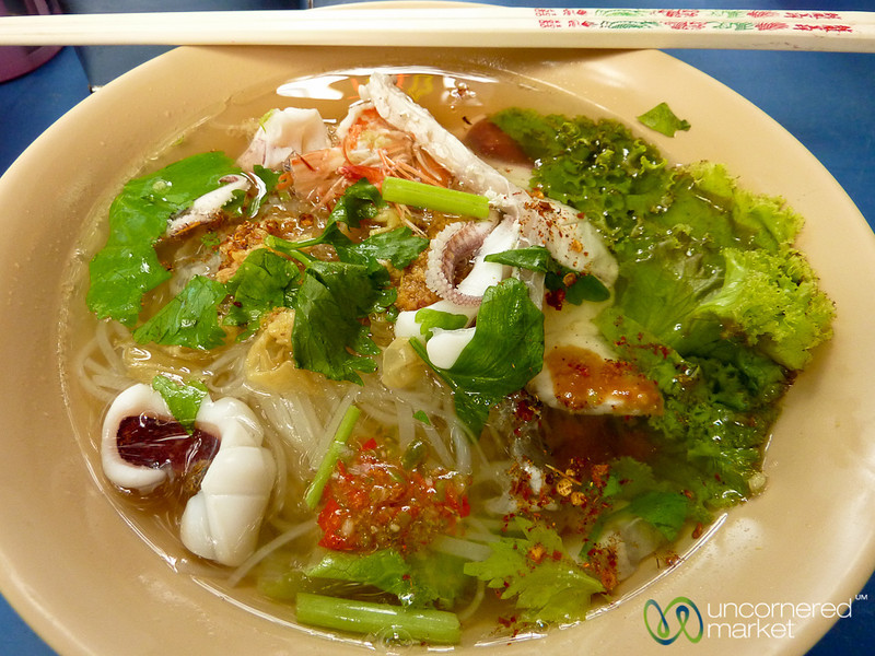 Delicious Bowl of Seafood Soup on Silom Road - Bangkok, Thailand