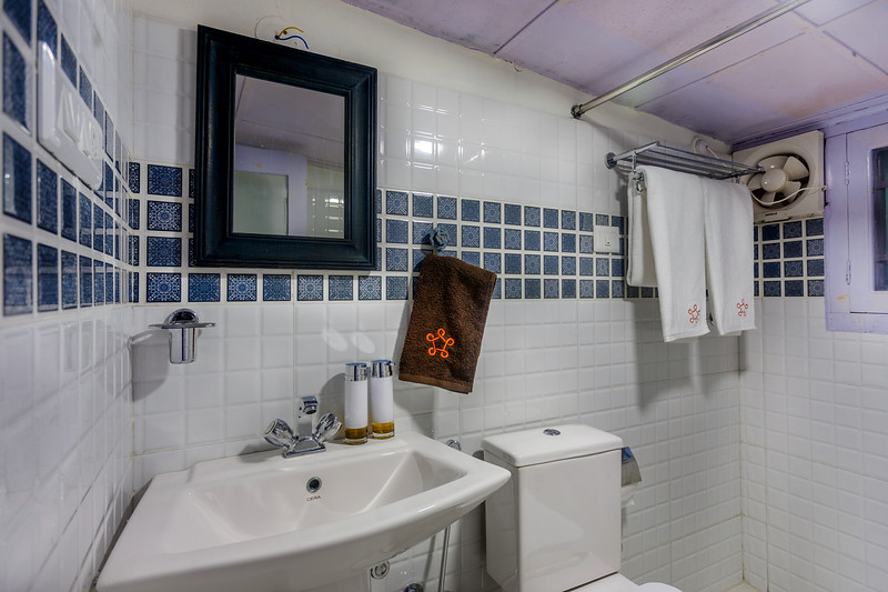Common bathroom. Not attached with any rooms.
