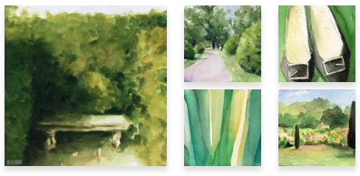 Green Paintings Wall Art by Beverly Brown