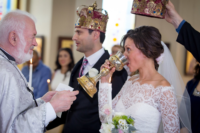I love photographing the orthodox wedding crowns used in the marriage sacrament. The couple are royally adorned indeed.