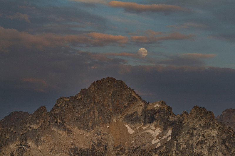 Moonrise over Mt Regan
