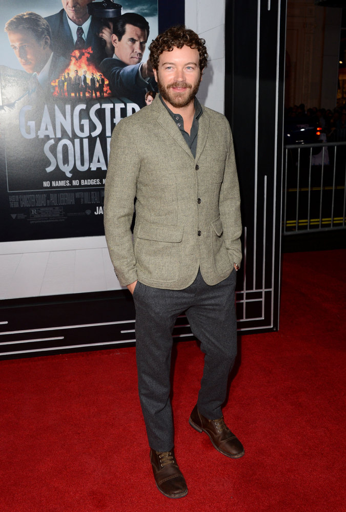 """. Actor Danny Masterson arrives at Warner Bros. Pictures\' \""""Gangster Squad\"""" premiere at Grauman\'s Chinese Theatre on January 7, 2013 in Hollywood, California.  (Photo by Jason Merritt/Getty Images)"""