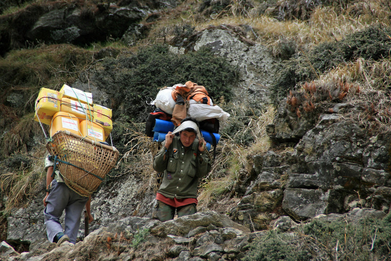 Our packs were nothing compared to the loads caried by the porters