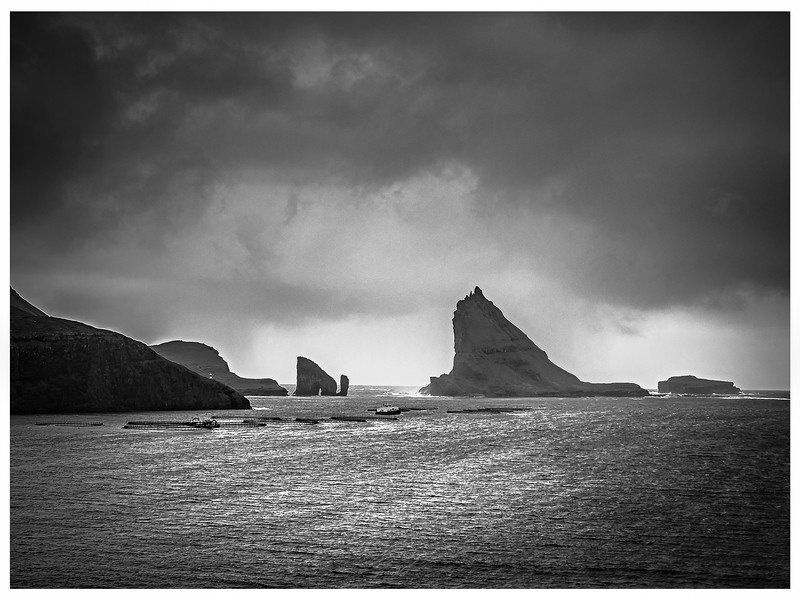 Faroe Coast 30a   Black and White Photography by Wayne Heim