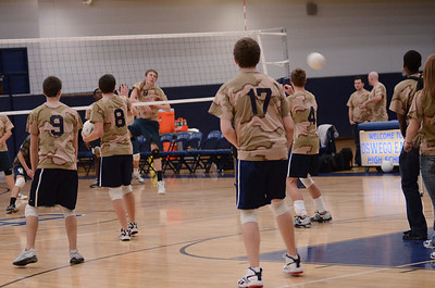 Oswego East Varsity boys (Volley for the troops) 2012