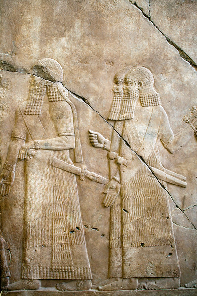 Assyrian bas-relief (8th-7th century BC), Pergamon Museum, Berlin, Germany