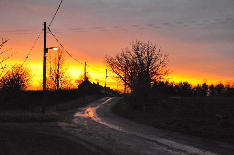 Sunset over Old Quarrington - 2 - 29th Jan 12 - Richard Cowen.jpg