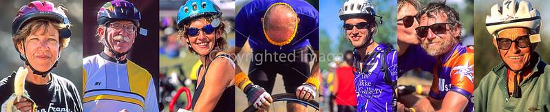 1-F)  Cyclist Close-Ups - Smiles - Cycle Oregon