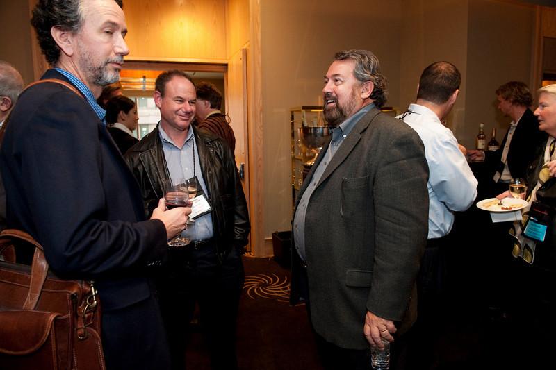 FiReStar Reception: (L-R) Dennis Adler, CTO, MetaJure; Howard Mendelsohn, President, Avitar Partners; and Mark Anderson, SNS CEO and FiRe Chair