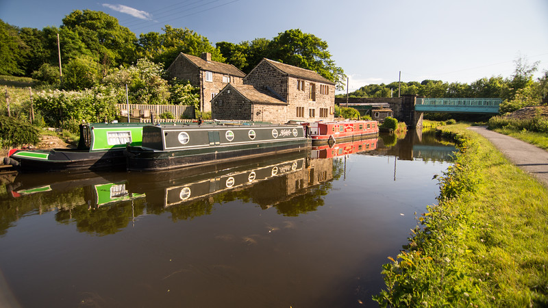 Farmhouse on the Leeds and Liverpool Canal